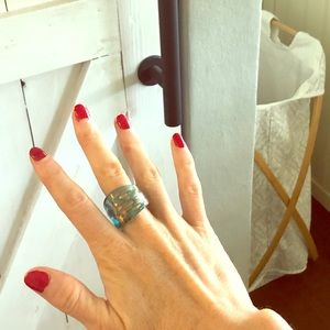Jewelry - Blown glass ring from Italy